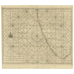 Antique Map of Malabar Coast by Valentijn, 1726