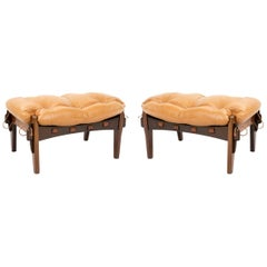 Vintage Pair of Footstools for Mischiveous 'Moleca' Chairs by Sergio Rodrigues