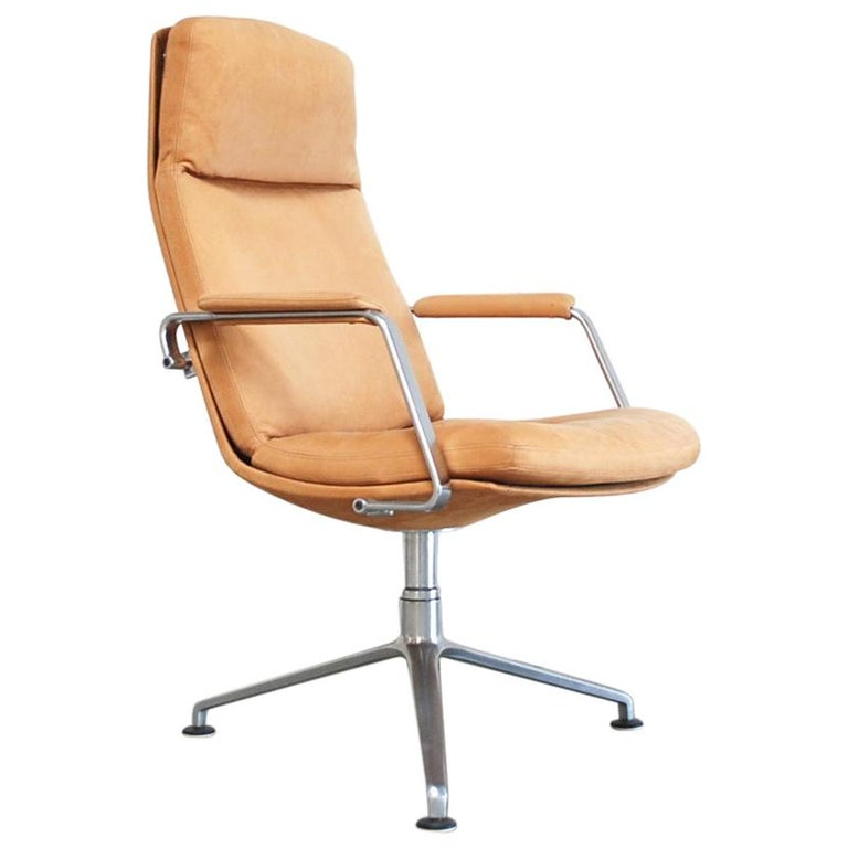 Kill International FK 86 Office Chair Cognac Leather by Kastholm & Fabricius For Sale