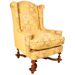 Late 19th Century William and Mary Style Wingback Armchair