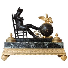 """Napoléon on the Eve of the Battle of Austerlitz"", Inkwell and Desk Clock, 1880"