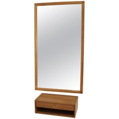 1960 Aksel Kjersgaard Set of Mirror and Drawer in Oak