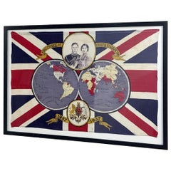 1937 King George VI Coronation Framed Flag