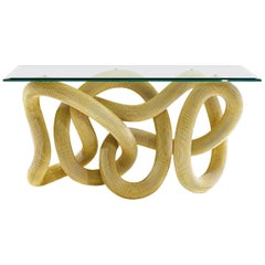 Console Table in Brass Wire, Flux by Jake Phipps