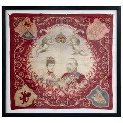 King Edward VII Coronation, June 1902 Framed Flag