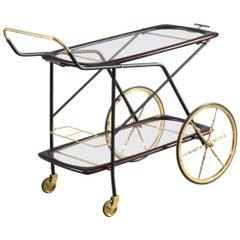 Italian Bar Cart Designed Cesare Lacca, 1950
