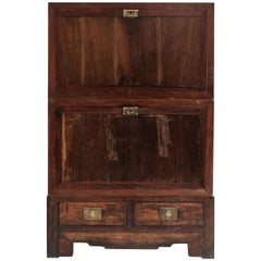 Chinese Cabinet with Two Doors and Two Drawers