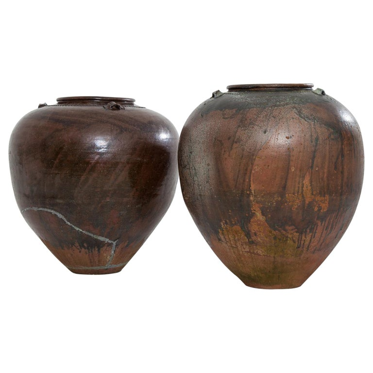 Very Large 20th Century Spanish Terracotta Pots For Sale