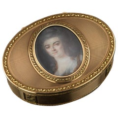 Antique German 18-Karat Gold Snuff Box, Esais Fernau, Hanau, circa 1790