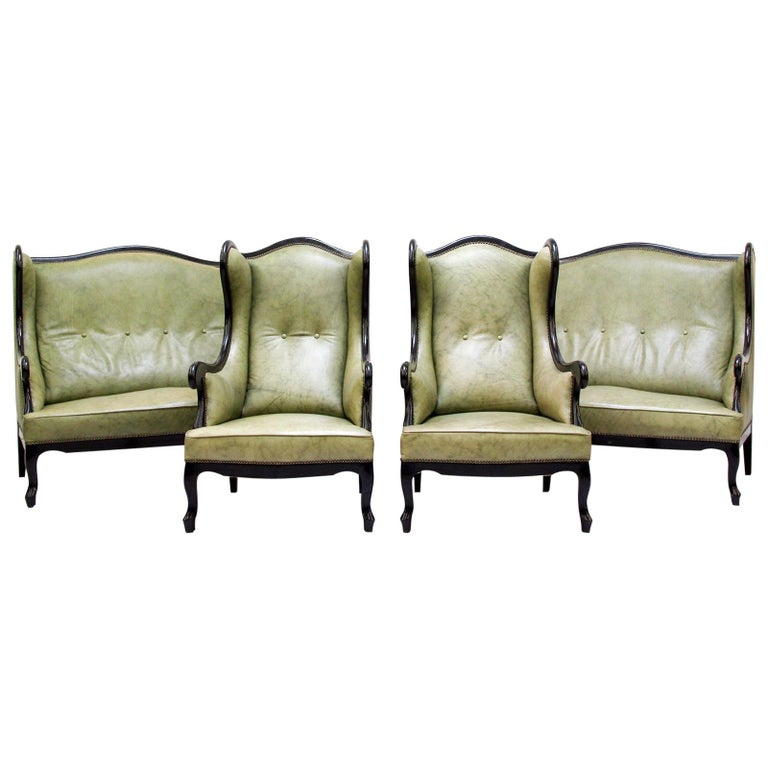 Homefurnitureseatingarmchairs Chippendale Sofa Leather Antique Vintage Couch English Armchair Old For