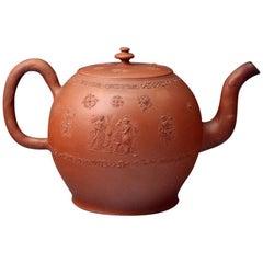 Antique Redware Staffordshire Pottery Punch Pot, circa 1760 Period
