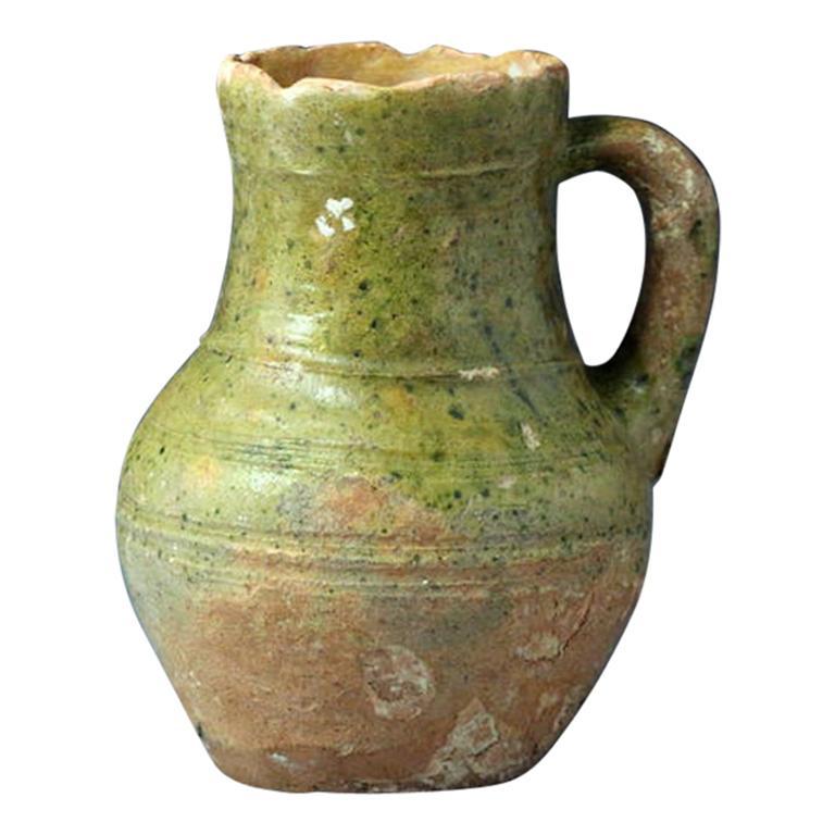 17th Century Earthenware Jug Ceramics & Porcelain Decorative Arts