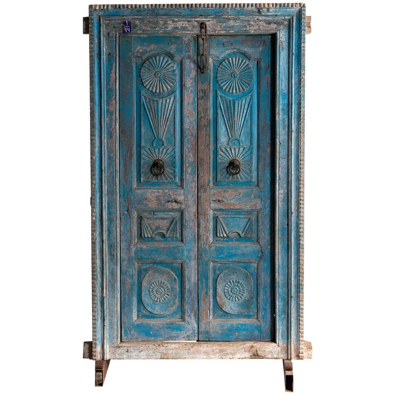 Impressive Set of Indian Doors with Surround For Sale