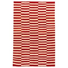 Modern Striped Persian Kilim Rug