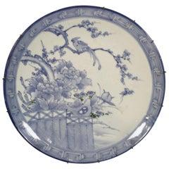 Blue and White Imari Charger Meiji Period