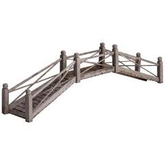 Teak Model of a Garden Bridge, England, circa 1920
