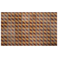 Set of '48' Geometric Pattern Floor Tiles, Europe, circa 1900