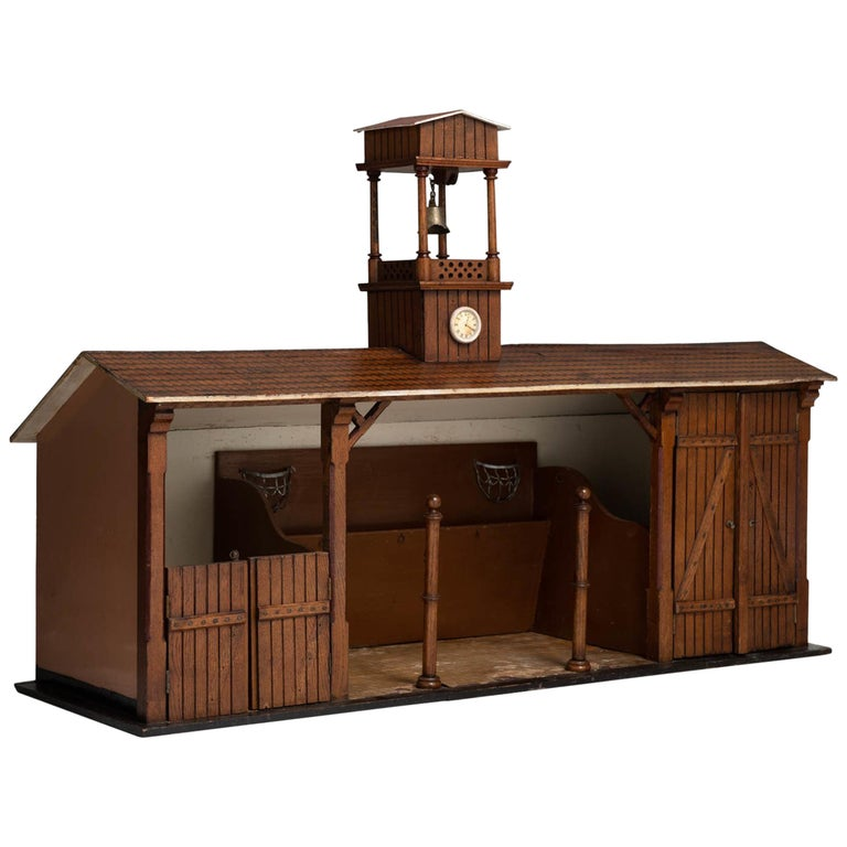 Model Of A Stable Block England 19th Century For Sale