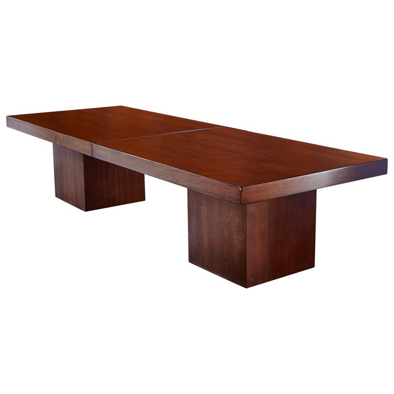Umstead Oval Engineered Wood Coffee Table: 1960s John Keal Expanding Walnut Coffee Table By Brown