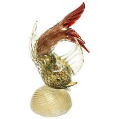 Murano Glass Gold Fleck Fish