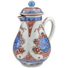 18. Jahrhundert Chinesischer Export, Porzellan Sahnekännchen mit Deckel