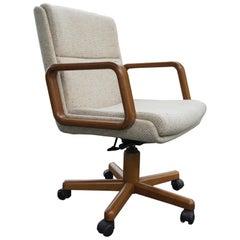 Holz und Tweed-Bürostuhl