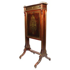 French 19th Century Louis XIV Style Mahogany & Brass Inlay Secretary Boulle Desk