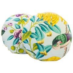 Tropical Paradise Round Throw Pillows