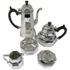 Tiffany Sterling Silver Octagonal Hand Forged Tea & Coffee Set, Custom Order