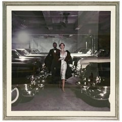 """1952 Photograph Print """"Couple in Parking Garage"""" by John Rawlings"""