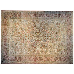 Incredible Early 20th Century Lavar Kirman Rug