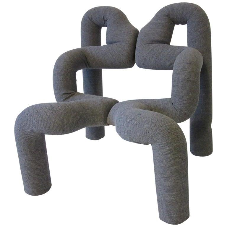 Ekstrem Sculptural Chair by Terje Ekstrom Made in Norway For Sale