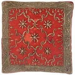 Antique Zardozi Pillow