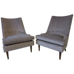 Midcentury Slipper Chairs in the Style of Heritage Henredon