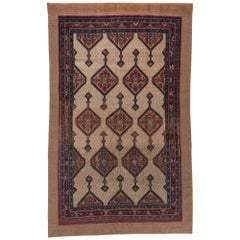 Antique Hamadan Oriental Carpet, West Persian Village