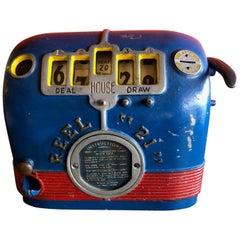 "Vintage ""Reel 21"" Black Jack Slot / Gum Ball Machine"