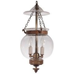 19. Jahrhundert Globus Glasglocke Laterne