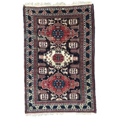 Very Beautiful Vintage Caucasian Chirwan Rug