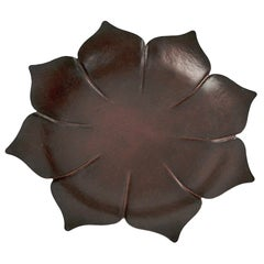 Marie Zimmermann Arts & Crafts Copper Lotus Dish or Vide Poche