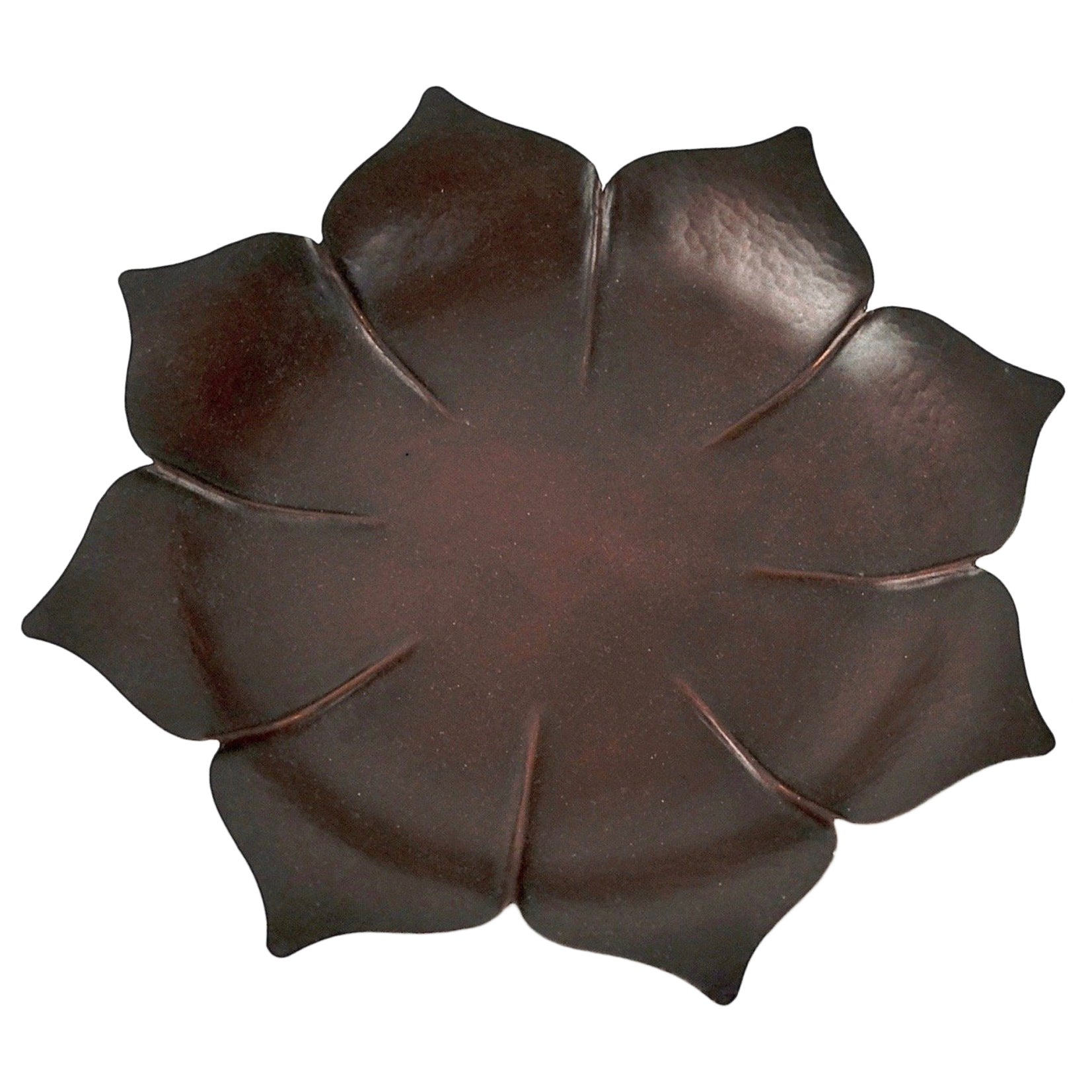 Marie Zimmermann Arts & Crafts Copper Lotus Dish or Vide Poche