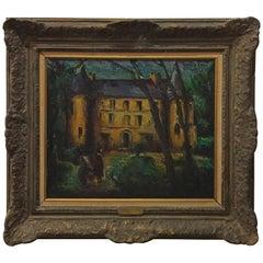 Le Chateau Verte Oil On Canvas by Benton Francis Scott