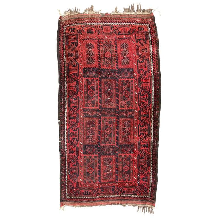 Antique Turkmen Belutch Afghan Rug For Sale At 1stdibs