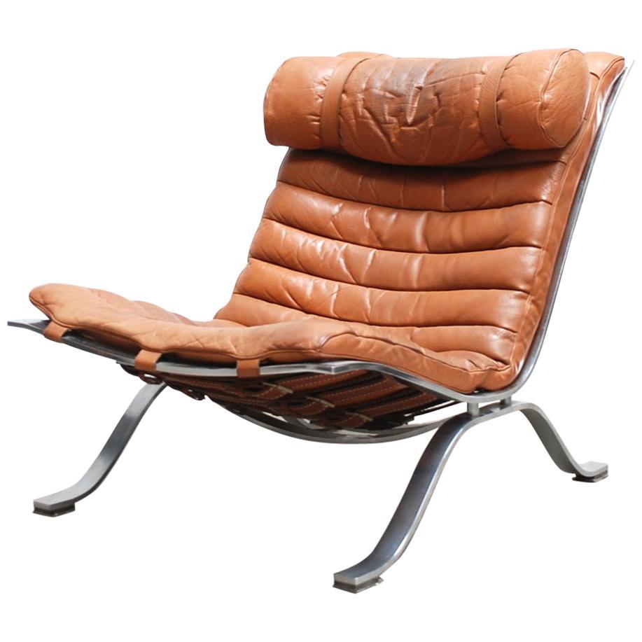 Arne Norell Model Ari cognac Lounge Chair