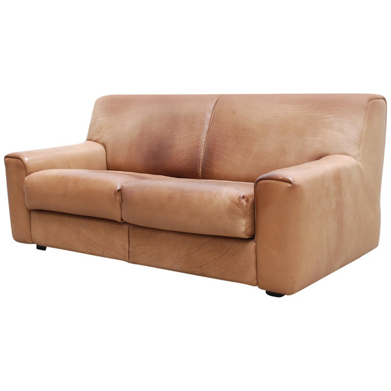 De Sede Ds 42 Neck Leather Sofa For Sale
