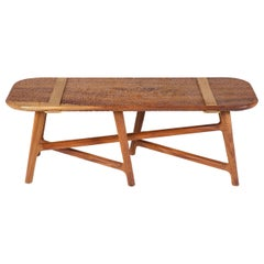 Catalina Wood Carved Bench