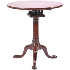 18th Century Mahogany Tilt-Top Wine Table