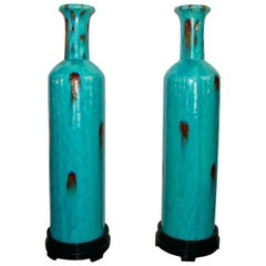 Pair of Turquoises Vases