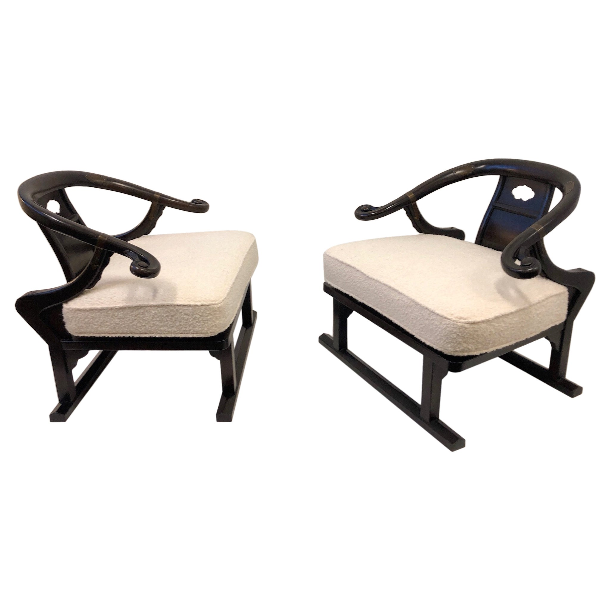 Pair of Walnut Lounge Chairs by Michael Taylor for Baker