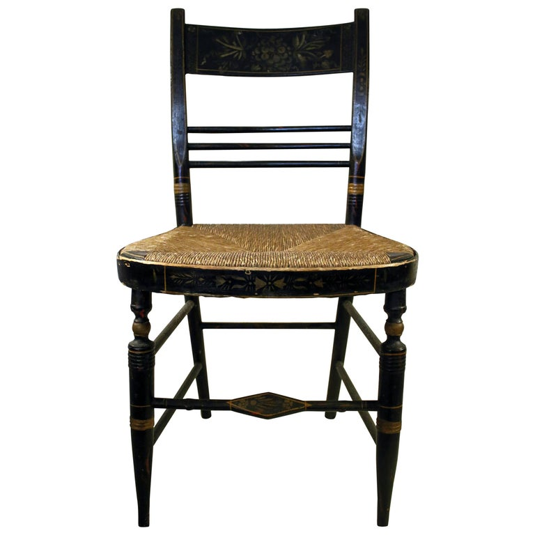 19th century Painted Maple Hitchcock Chair
