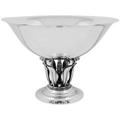 Vintage Georg Jensen Bowl 196 by Johan Rohde